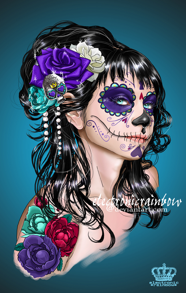Day of the Dead Art Skulls